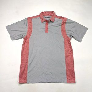 Callaway Mens Polo Size L Red Gray Golf Shirt